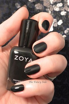 The Fancy Side: Zoya Wishes Collection: Zoya Willa the perfect cream black nail polish!