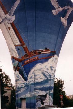 château d'eau Tarnos décoration Anne Larose 2001