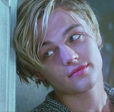 """Leonardo DiCaprio While young as Romeo Montague in Romeo + Juliet"""" (1996)"""