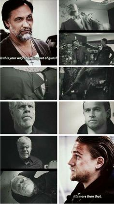 Nero: Is this your way of getting out of guns? Jax: It's more than that