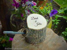 Wedding Guest Book Pen Holder Custom Names by thatfamilyshop