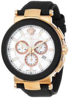 Versace Men's VFG050013 Mystique Sport 46mm Rose Gold Ion-Plated Coated Stainless Steel Chronograph Tachymeter Date Watch Versace http://www.amazon.com/dp/B00CPKIQ72/ref=cm_sw_r_pi_dp_foqnub13BPNW9