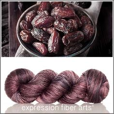 Medjool - luster merino tencel worsted yarn by expression fiber arts
