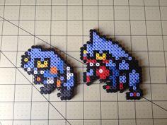Pokemon Bead Sprite Set  Croagunk Family by ToughTurtles on Etsy, $5.50