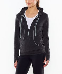 Take a look at this Asphalt Heather Sexy Sweat Half-Zip Hoodie by lucy on #zulily today!