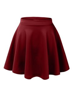 Womens Basic Versatile Stretchy Flared Skater Skirt at Amazon Women's Clothing store