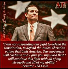 Ted Cruz fights on for our rights!// What a good and wonderful man. I still wish he could be our President.