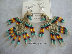 Earrings from Made In Kansas By Rosi... on Facebook.
