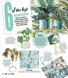 Jungle Fever, Daily Telegraph HOME Magazine, July 20 2019 featuring Jungle by Typoflora in Lolly