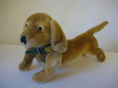 Steiff Vintage Dachshund Hexie - EAN - Steiff Button and Tag and Original Collar - 1959 to 1967 - Approx 10 Inches Long Vintage Dachshund, Ear Tag, Etsy App, All Pictures, Pup, Dinosaur Stuffed Animal, I Shop, Button
