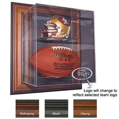"NFL Logo Case-Up"" Mini Helmet & Football Display « Store Break"