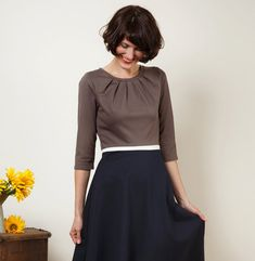 Dress Elisa with a round skirt and little falts by jekyllundkleid, $175.00
