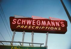 Schwegmann's was a giant supermarket that sold groceries, also had a shoe dept., bar, pharmacy, pet store, barber shop, lunch counter, sold small appliances, booze, lawn furniture and coolers, etc. Way ahead of it's time