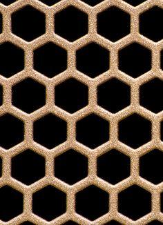 Honey Metallic Coated hexagon textured Metal background pattern