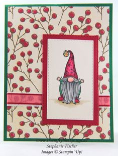 Pop Up Christmas Cards, Stamped Christmas Cards, Christmas Card Crafts, Stampin Up Christmas, Christmas Gnome, Xmas Cards, Handmade Christmas, Holiday Cards, Poinsettia Cards