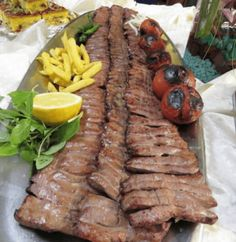 Kabab Barg (Persian style barbecued and marinated lamb, chicken or beef), How to make delicious and professional Kabab barg at home? Kabob Recipes, Meat Recipes, Persian Kabob Recipe, Beef Kabobs, Kebabs, Barbecued Lamb, Iran Food