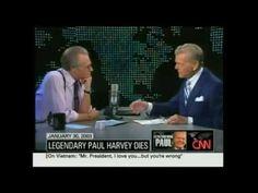Paul Harvey on Larry King Live Jan. Paul Harvey, Good Prayers, Vintage Tv, Good People, Larry, 30th, Famous People, Tv Shows, Encouragement