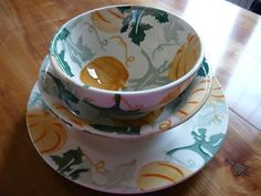 Emma Bridgewater Pumpkin French Bowl, Cereal Bowl and 8.5 inch Plate
