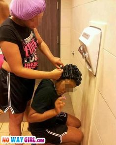 Girl They Got A Hair Dryer Right In The Bathroom