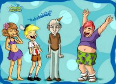 Funny pictures about Human SpongeBob characters. Oh, and cool pics about Human SpongeBob characters. Also, Human SpongeBob characters photos. Spongebob Friends, Spongebob Memes, Spongebob Squarepants, Spongebob Squidward, Spongebob Cartoon, Spongebob Drawings, Funny Drawings, Wall E, Aqua Teen Hunger Force