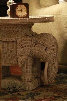 Wicker Elephant Table Http://www.socialwicker.com