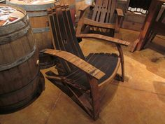 wine barrel adirondack chair.