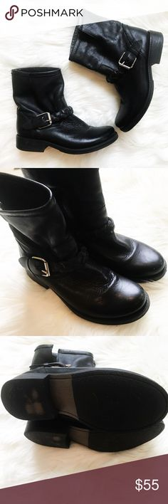Steve Madden : Black Ankle Boots Size 8 Black ankle boots from Steve Madden. Braid and buckle detail. Preloved but no major flaws. In excellent condition! Size 8. No holds or trades. Bundle to save. Open to offers. Steve Madden Shoes Ankle Boots & Booties