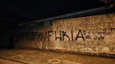 É o terror delas   Pesadelo deles 🔨💣💥  2014   #pretofosco #agendas #muros #vandal #fosca #girlspower #girlsvandal #2014 #abc