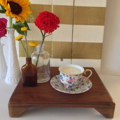 Dainty Flowers Teacup Soy Candle  Volcano Fragrance by reSOYcle, $15.00