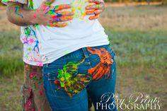 Paint Fight Engagement Session – Medford Oregon Wedding Photographers