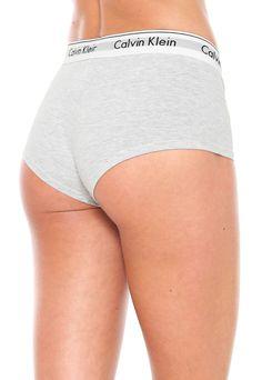 18f74cc1f Calcinha Calvin Klein Underwear Caleçon Boyshort Cinza