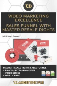 Video Marketing Excellence Sales Funnel With Master Resale Rights -  | #MasterResaleRightsSaleFunnels #MRRSaleFunnels #MRRProducts #MRR #MasterResaleRights Marketing