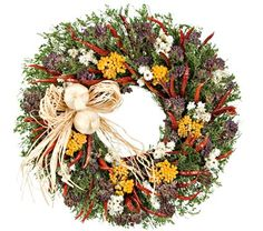 Hot Pepper & Sweet Annie Kitchen Wreath