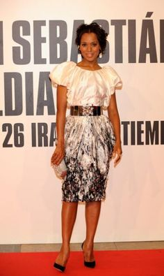 Actress Kerry Washington attends the 57th San Sebastian Film Festival closing ceremony at the Kursaal Palace, on September 26, 2009 in San Sebastian, Spain.