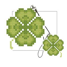 cross stitch four leaf clover | Shop Popular Grass Animal Crossing from China | Aliexpress