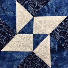 Star of Destiny Quilt Block - Blue & White Sampler