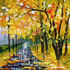 Long-Autumn - PALETTE KNIFE Oil Painting On Canvas By Leonid Afremov - http://afremov.com/Long-Autumn-PALETTE-KNIFE-Oil-Painting-On-Canvas-By-Leonid-Afremov-Size-24-W-x-24-H.html?utm_source=s-pinterest&utm_medium=/afremov_usa&utm_campaign=ADD-YOUR