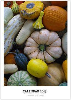 Heirloom Vegetables Calendar