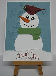 scarf from the modern label punch from Stampin' Up! Scrapbook Paper Crafts, Scrapbook Cards, Scrapbooking, Christmas Christmas, Christmas Themes, Punch Art Cards, Snowman Cards, Paper Paper, December 2013