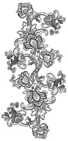 Latest Trend in Paper Embroidery - Craft & Patterns Jacobean Embroidery, Paper Embroidery, Embroidery Patterns, Paisley Design, Lace Design, Pattern Design, Fleurs Art Nouveau, Coloring Books, Coloring Pages
