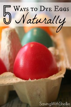 You don't need a bunch of fancy, organic dyes. Your kitchen has everything you need to dye your Easter eggs naturally this year.