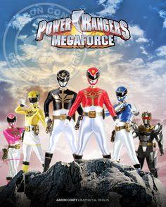 Power Rangers Megaforce Print