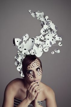Love the creative design of this head piece, artist, Bondelen in Berlin, Germany❣ Behance.net....x