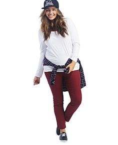 "<p>These sleek skinny pants can be paired with almost anything! They have a stretchy woven body, an elasticized waistband with a smocked back, and a stitched yoke at the back to get that denim-feel. Pants have a pull-on construction.</p>  <p>Model is 5'9"" and wears a size 1X.</p>  <ul> 	<li>29"" Inseam</li> 	<li>12"" Leg Opening</li> 	<li>62% Cotton / 34% Polyester / 4% Spandex</li> 	<li>Machine Wash</li> 	<li>Imported</li> </ul>"