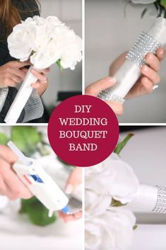 Learn how to bling-out your bridal bouquet handle with the help of this quick tutorial video. Learn how to bling-out your bridal bouquet handle with the help of this quick tutorial video. Wedding Venue Inspiration, Wedding Ideas, Wedding Stuff, Wedding Planning, Making A Bouquet, Diy Bouquet, Wedding Brooch Bouquets, Space Wedding, Summer Weddings