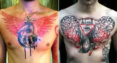 cant get enough of is guy. german tattoo artist does one of a kind modern sketch like tattoos.