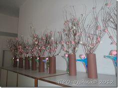 P2280312 Art Plastique, Spring Crafts, Glass Vase, Kindergarten, Projects To Try, Spring Summer, Winter, Blog, Preschool
