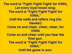 Iowa Hawkeyes - Fight Song Must listen!! Gives me goosebumps, can't wait