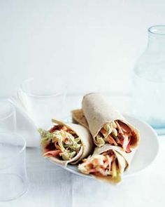 No-Cook Meal: Ham and Pineapple Slaw Wraps