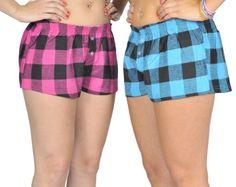 Alki`i 2-pack Womens Plaid Print Pajama PJs Shorts Set $14.99